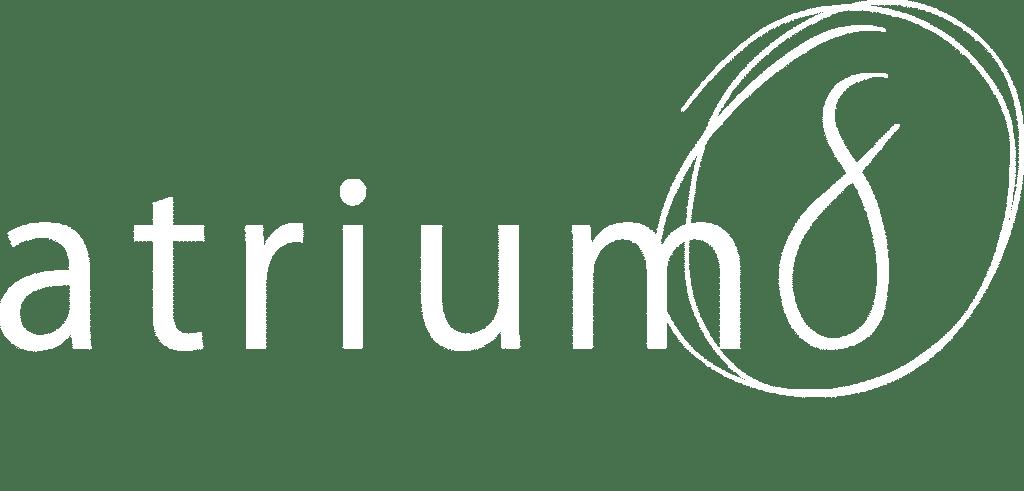 atrium8 GbR Logo weiss - Menüleiste