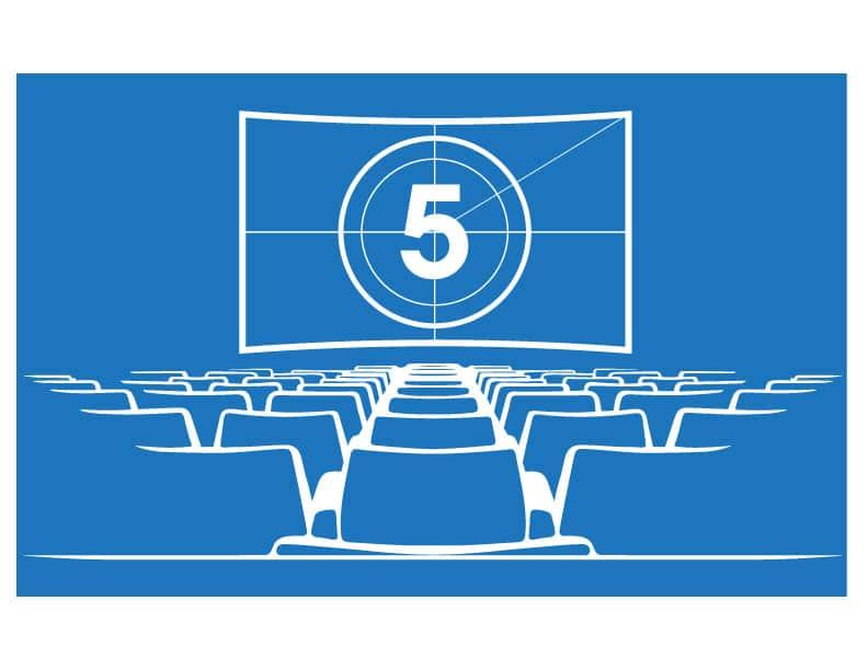Countdown zu Filmbeginn - Kinosaal